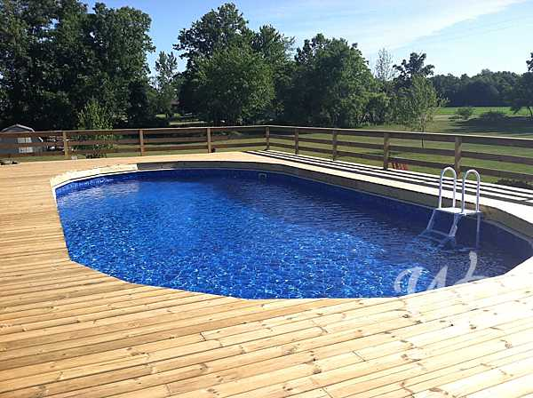 Wolbers possehn doughboy and lomart pools for Doughboy above ground swimming pools